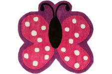 Tapis Acrylique et polyester 140gms POLKA BUTTERFLY 90X90 - Tapis carre deco