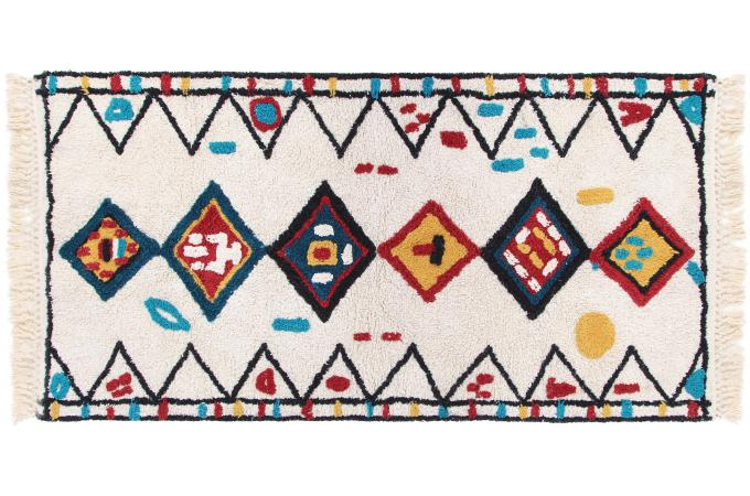 Tapis Berbere En Coton Blanc 160x230cm Bamby Tapis Pas Cher