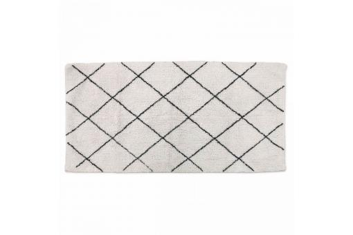 tapis berb re en coton noir et blanc 60x90cm ninon tapis. Black Bedroom Furniture Sets. Home Design Ideas