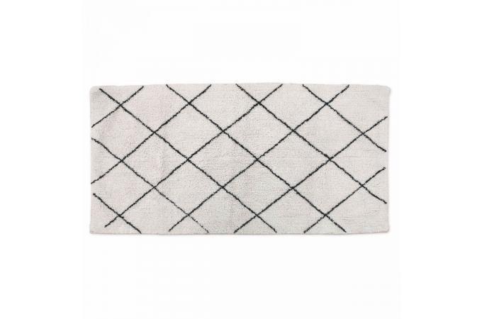 tapis berb re en coton noir et blanc 60x90cm ninon tapis design pas cher. Black Bedroom Furniture Sets. Home Design Ideas