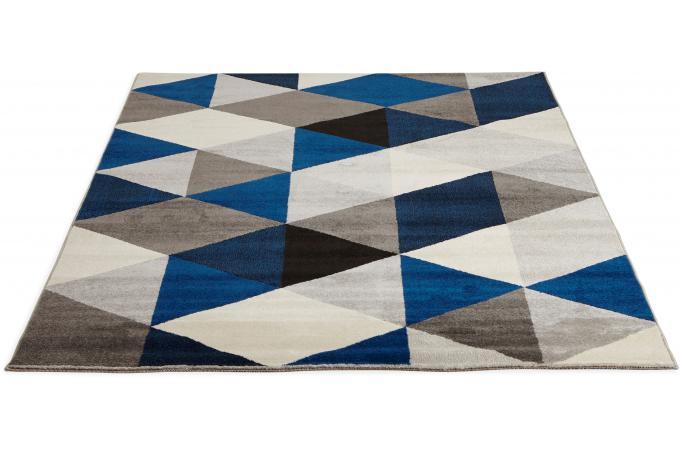Tapis Bleu 160x230 Cm Abigail Tapis Design Pas Cher