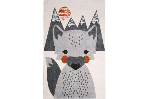 Tapis enfant rectangulaire renard 120x170 SKULLY - Tapis enfant design