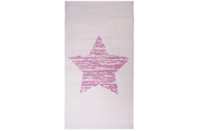 Tapis toile rose 80x150cm maoro tapis design pas cher - Tapis etoile rose ...