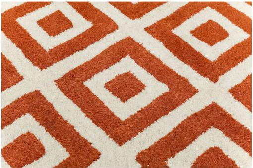 KARE DESIGN - Tapis Rhomb orange 170x240cm