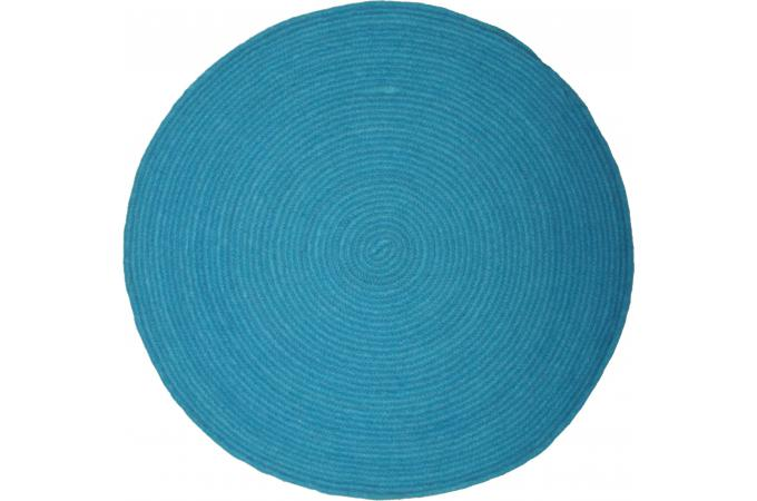 tapis rond 140cm bleu lake tapis rond pas cher. Black Bedroom Furniture Sets. Home Design Ideas