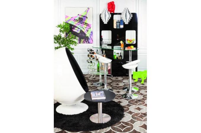 Tapis rond 160 noir shaggy tapis design pas cher - Tapis shaggy noir pas cher ...