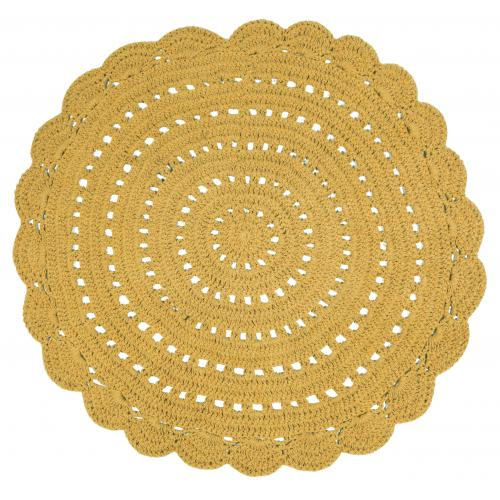 Tapis Rond ALMA Orange - Tapis deco design
