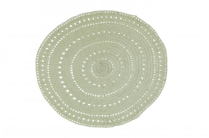 tapis rond coton ecru crochet tapis rond pas cher. Black Bedroom Furniture Sets. Home Design Ideas