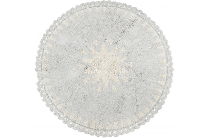 tapis rond toile crochet blanc d110 niko tapis rond pas cher. Black Bedroom Furniture Sets. Home Design Ideas