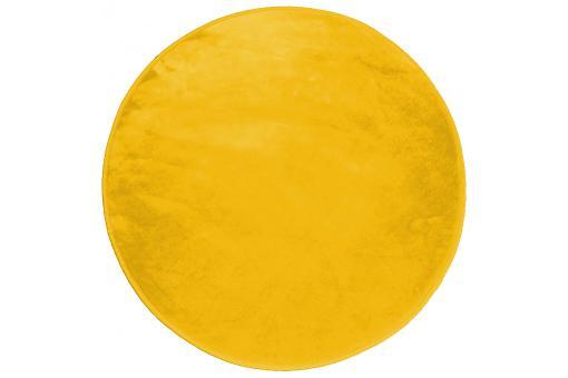 tapis rond impression velours jaune moutarde d90 zelda tapis design pas cher. Black Bedroom Furniture Sets. Home Design Ideas