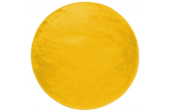tapis rond impression velours jaune moutarde d90 zelda. Black Bedroom Furniture Sets. Home Design Ideas