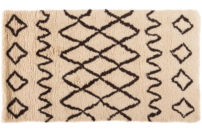 tapis tiss main 100 laine nils 80x150 ivoire tapis design pas cher. Black Bedroom Furniture Sets. Home Design Ideas