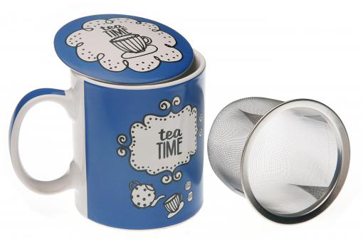 tasse th avec infuseur bleue maggy service caf th pas cher. Black Bedroom Furniture Sets. Home Design Ideas