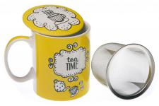 Tasse à thé avec infuseur jaune MAGGY - Service cafe the design