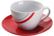 Tasse Blanche Avec Impression Lignes Colorées - Service cafe the design