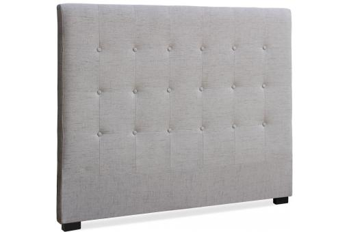 t te de lit 140 cm tissu beige glam t te de lit pas cher. Black Bedroom Furniture Sets. Home Design Ideas