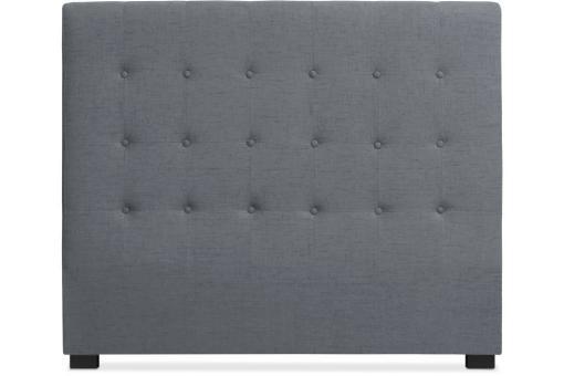 t te de lit 140 cm tissu gris glam t te de lit pas cher. Black Bedroom Furniture Sets. Home Design Ideas