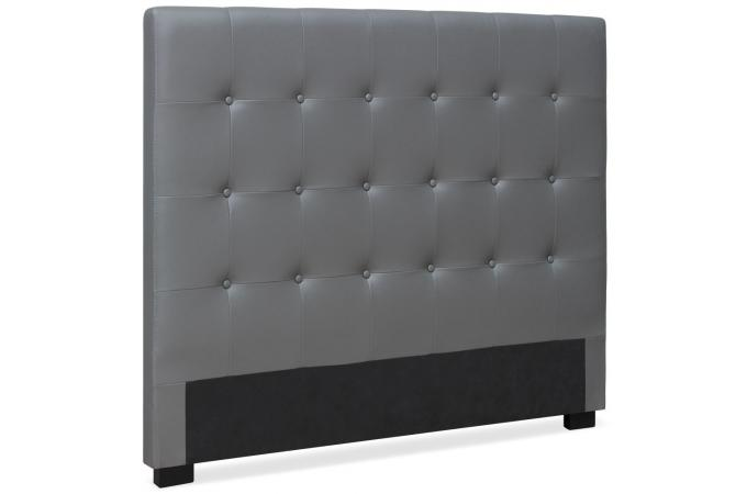 t te de lit capitonn e 140 cm cocoon gris t te de lit pas cher. Black Bedroom Furniture Sets. Home Design Ideas