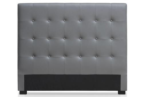 t te de lit capitonn e 140 cm cocoon gris t te de lit pas cher. Black Bedroom Furniture Sets. Home Design Ideas