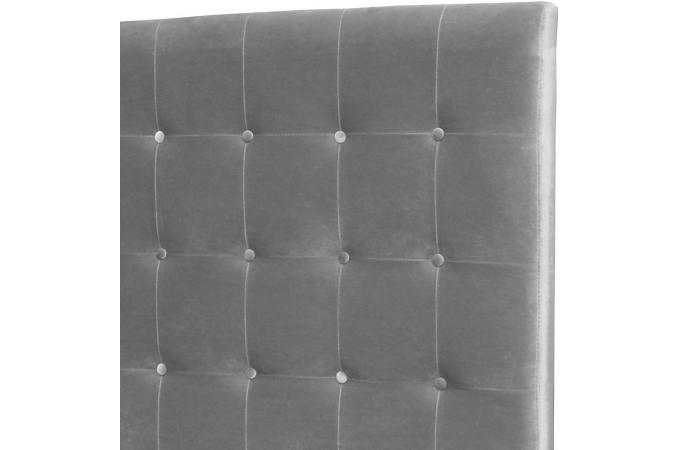 t te de lit capitonn e 160 cm velours argent paca t te de lit pas cher. Black Bedroom Furniture Sets. Home Design Ideas