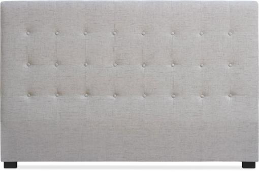 t te de lit capitonn e 180cm tissu beige luce t te de lit pas cher. Black Bedroom Furniture Sets. Home Design Ideas