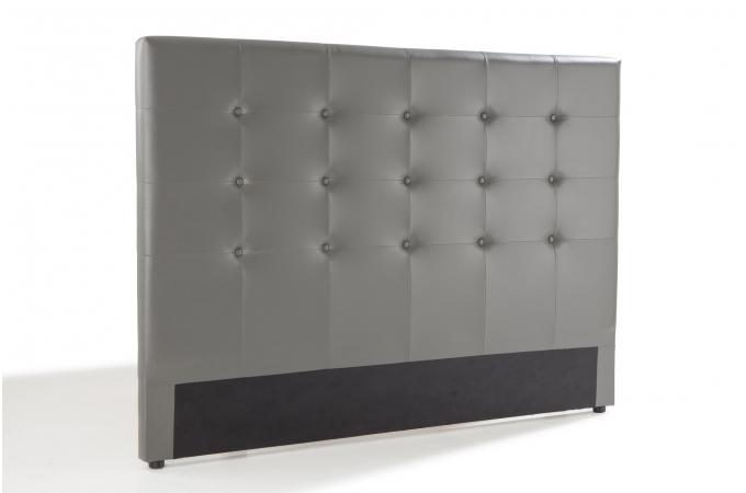 t te de lit capitonn e gris 140x190 orlena t te de lit. Black Bedroom Furniture Sets. Home Design Ideas