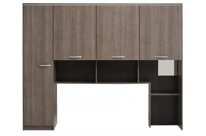 t te de lit multirangements noyer gris evolivi t te de lit pas cher. Black Bedroom Furniture Sets. Home Design Ideas