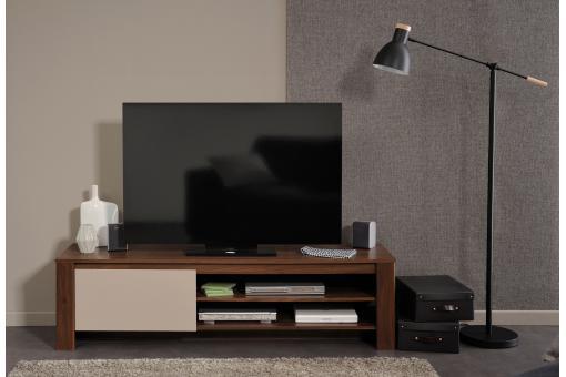 meuble tv 1 tiroir noyer amazone meuble tv pas cher. Black Bedroom Furniture Sets. Home Design Ideas