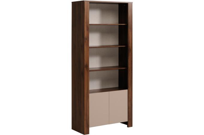 etag re 4 niveaux 2 portes noyer amazone meuble de. Black Bedroom Furniture Sets. Home Design Ideas