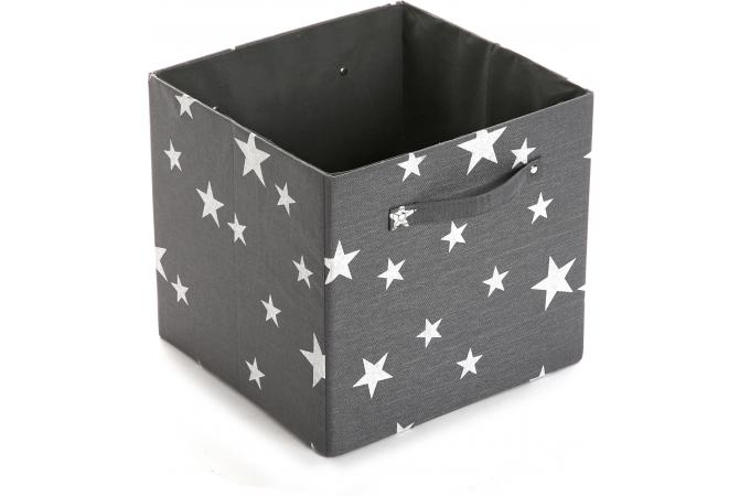 tiroir de rangement en tissu toiles gris 32x32cm stary. Black Bedroom Furniture Sets. Home Design Ideas