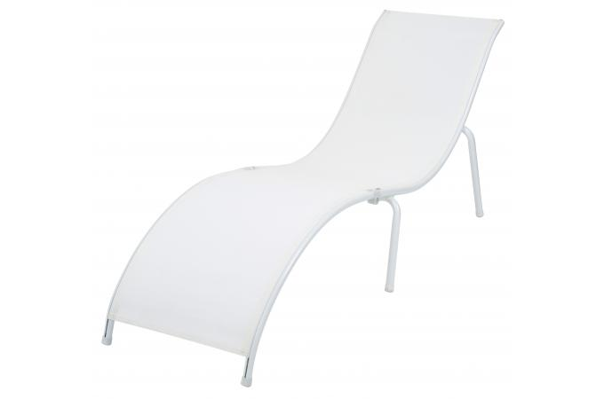 Transat la chaise longue blanc cytise chaise longue et for Transat et chaise longue