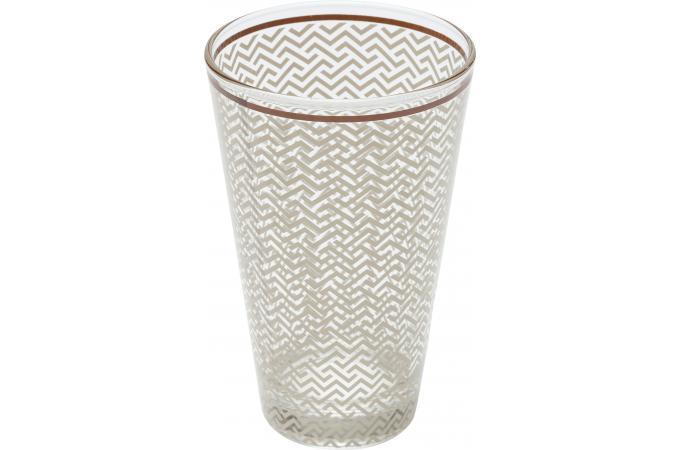 verre kare design a cocktail impression g om trique marron sweet home mug verre pas cher. Black Bedroom Furniture Sets. Home Design Ideas