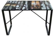 Bureau Plateau Verre 6 Mm Decor Manhatthan - Bureau en verre design