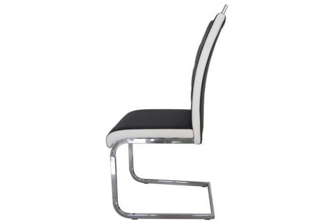 Chaise noire et blanche en p u georgia chaise design pas for Chaise noir et blanche