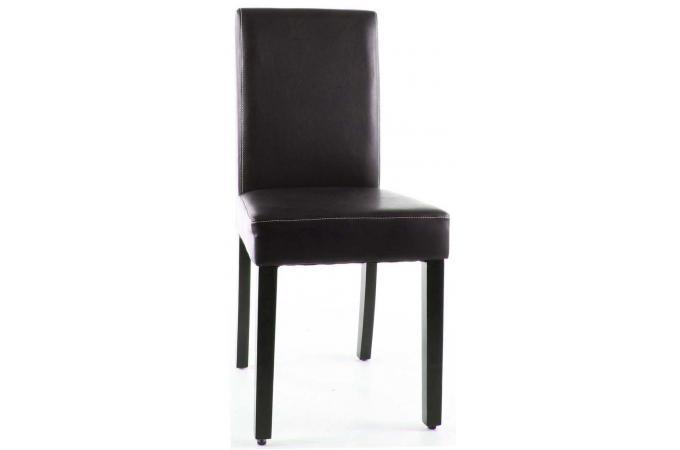 Chaise pied bois marron fanny chaise design pas cher for Chaise pied bois pas cher