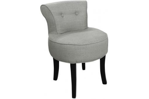 petit fauteuil boudoir lin gris fauteuil crapaud pas cher. Black Bedroom Furniture Sets. Home Design Ideas