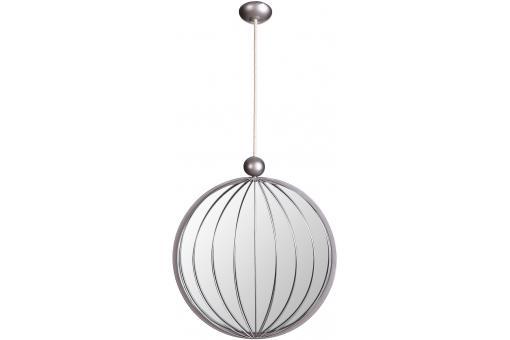 Miroir rond suspendu argent 30 x 133 cm pendentif miroir for Miroir rond suspendu