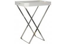 Table d'Appoint Desserte pliable blanche en bois Babine, deco design