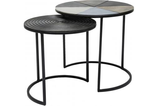 Set de 2 Tables d'appoint Fetta