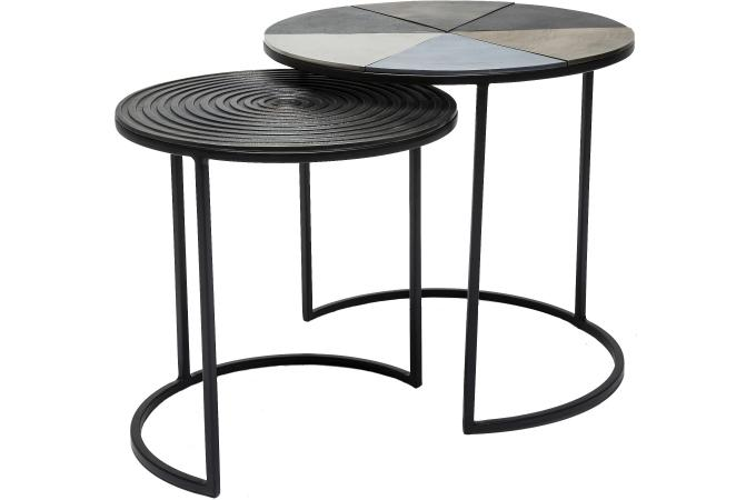 set de 2 tables d 39 appoint fetta table d 39 appoint pas cher. Black Bedroom Furniture Sets. Home Design Ideas