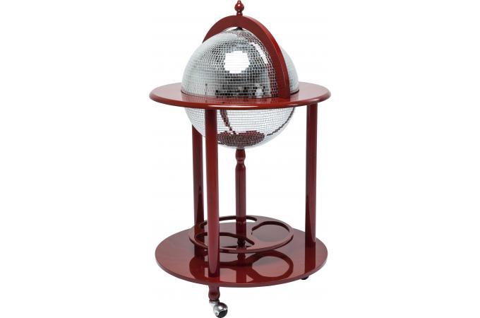 Bar globe disco rouge table de bar pas cher for Table de bar rouge