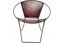 Chaise Design Chaise Bucket Marron, deco design
