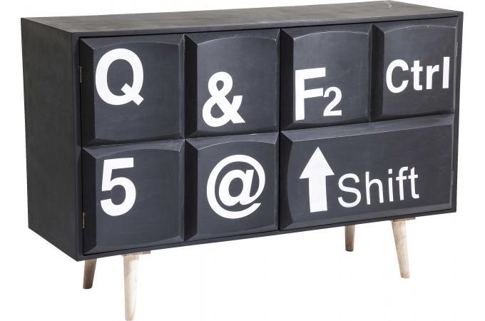 Commode keyboard kare design 2 portes meuble de rangement pas cher - Meuble kare design ...