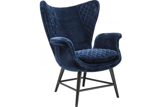 fauteuil tudor velours bleu fauteuil design pas cher. Black Bedroom Furniture Sets. Home Design Ideas