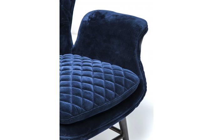 fauteuil tudor velours bleu fauteuil design pas cher. Black Bedroom Furniture Sets. Home Design Ideas