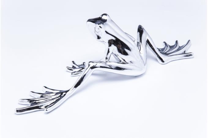 figurine d corative kare design crazy frog chrome mm statue design pas cher. Black Bedroom Furniture Sets. Home Design Ideas