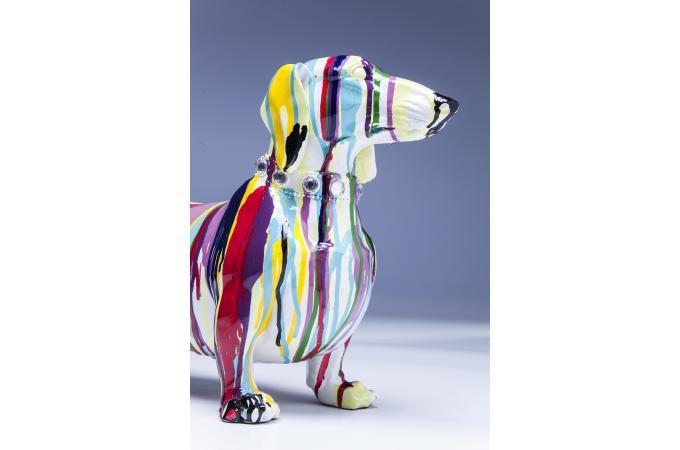 figurine d corative kare design dog colore 25cm statue design pas cher. Black Bedroom Furniture Sets. Home Design Ideas