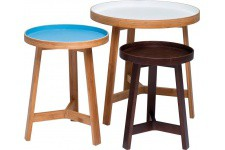 Table d'Appoint Set de 3 Tables D'appoint Kare Design en Bois, deco design