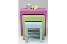 Table d'Appoint Lot de 3 Tables d'appoint Arc-en-Ciel Kare Design, deco design