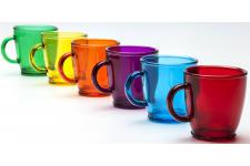 Lot de 6 Tasses Basic Colorful - Service cafe the design